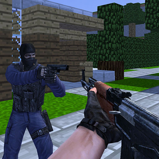 Counter Craft features multiplayer battle on different minecraft themed maps and lots of various types of weapons to buy and shoot all rival players in order to win.